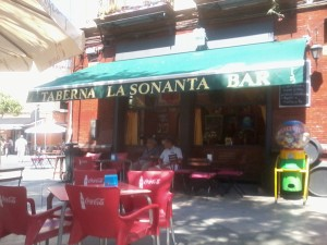 The tapas bar at the end of my street.