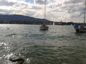 Some lake in Zurich. No different to any lake or any of many other cities I have visited, but five times more expensive.